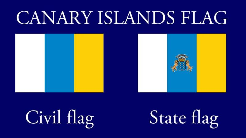 Canary islands flag