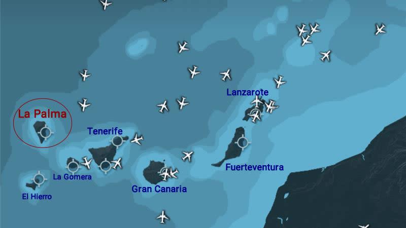 canary islands affected eruption la palma