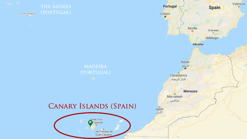 Canary Islands World Map Where are the Canary Islands located?   Spanish Islands