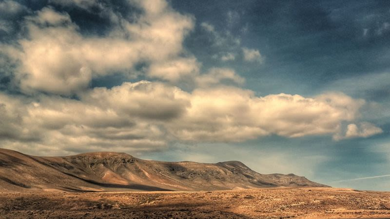 Fuerteventura cloudy weather canary islands