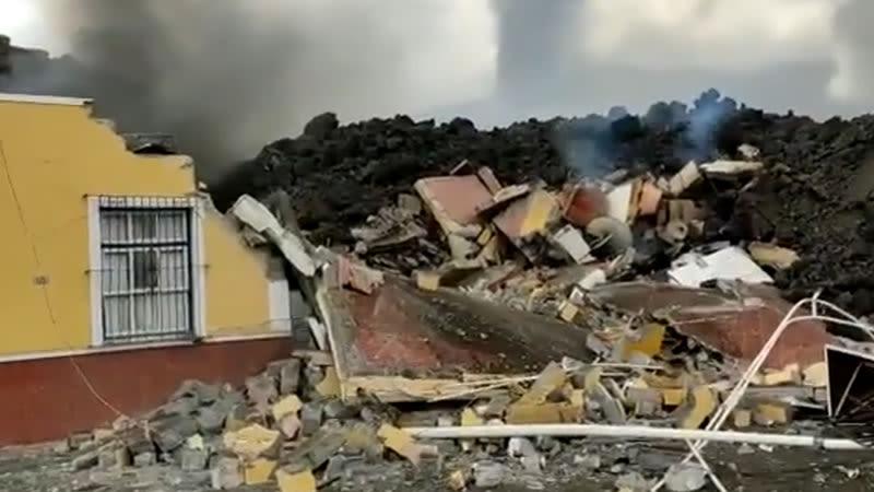 la palma lava eruption volcano 2021