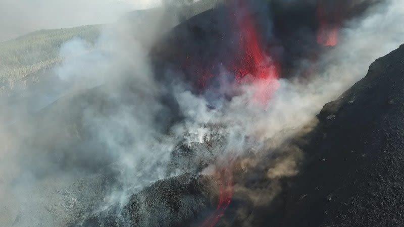 la palma volcano lava slow down