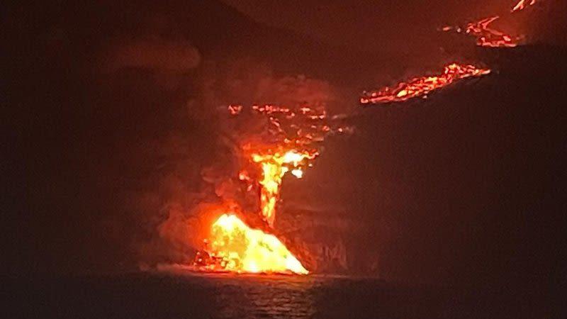 lava reached sea la palma eruption tazacorte
