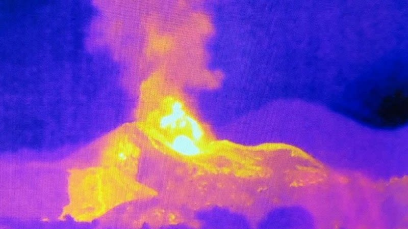 thermal image eruption la palma canary islands