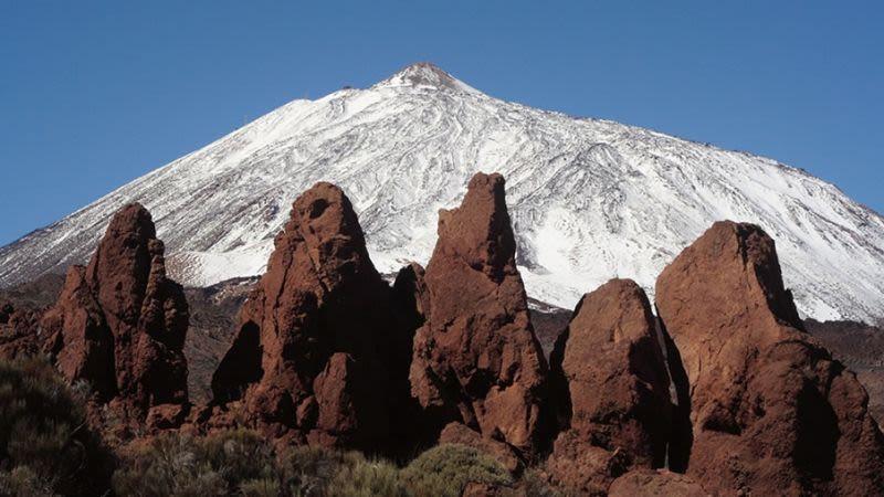 Teide snow tenerife