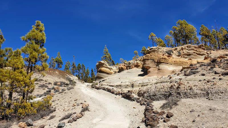 paisaje lunar lunar landscape tenerife hike